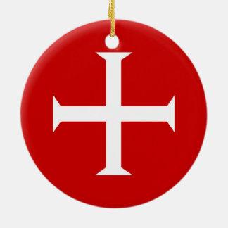 templar knights red cross malta teutonic hospitall christmas ornament