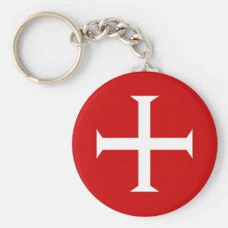 templar knights red cross malta teutonic hospitall key ring