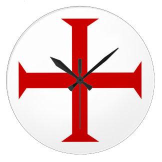 templar knights red cross malta teutonic hospitall large clock