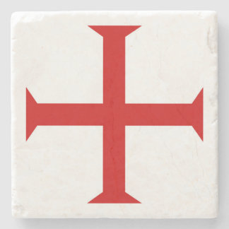 templar knights red cross malta teutonic hospitall stone coaster