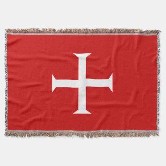 templar knights red cross malta teutonic hospitall throw blanket
