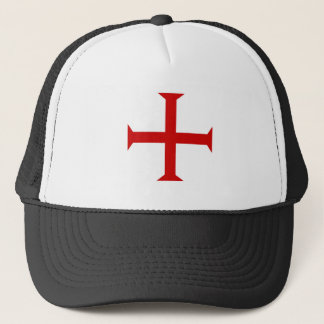 templar knights red cross malta teutonic hospitall trucker hat