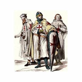 Templar Knights Standing Photo Sculpture