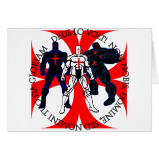 Templar Superheroes Greeting Card