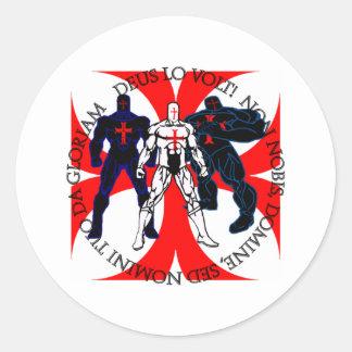 Templar Superheroes Round Sticker