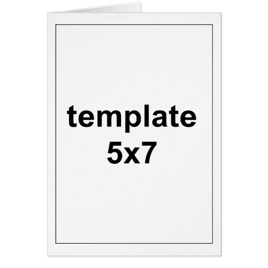 template 5x7 greeting card