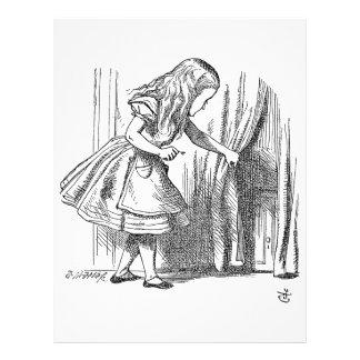 Template Alice Looking for the Door 21.5 Cm X 28 Cm Flyer