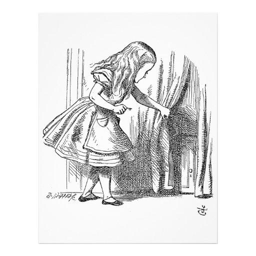 Template Alice Looking for the Door Custom Flyer