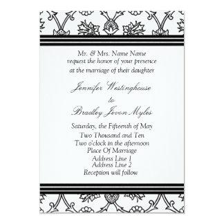 Template Black And White Wedding Invitation