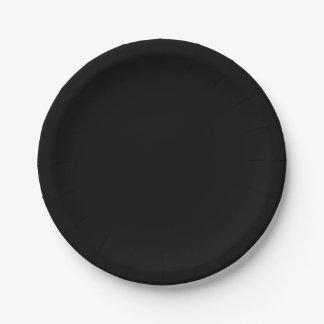 Template Black Paper Plate