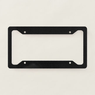 Template Blank add TEXT change background color Licence Plate Frame