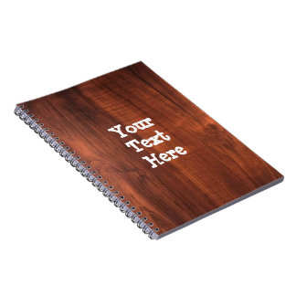 Template blank easy add TEXT PHOTO JPG IMAGE FUN Spiral Notebook