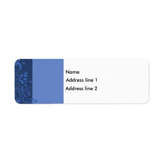Template - Blue Floral Label Return Address Label
