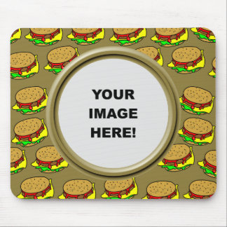 Template, Burger Border Mouse Mat