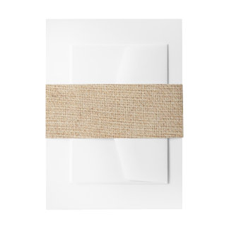 Template - Burlap Background Invitation Belly Band