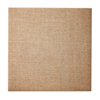 Template - Burlap Background Small Square Tile