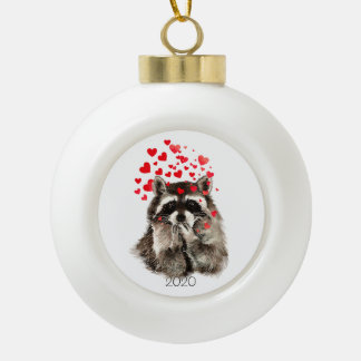template ceramic ball christmas ornament