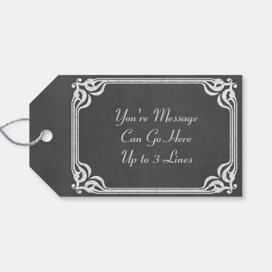 Template - Chalkboard Background Customise Gift Tags