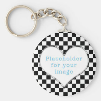 "Template ""Checker"" Basic Round Button Key Ring"