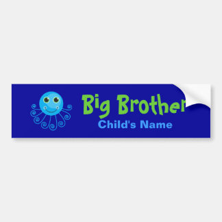 Template - Custom Octopus Big Brother Child's Name Car Bumper Sticker