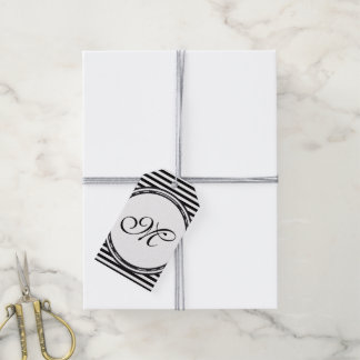 Template - Custom your text, monogram & backgr. Gift Tags