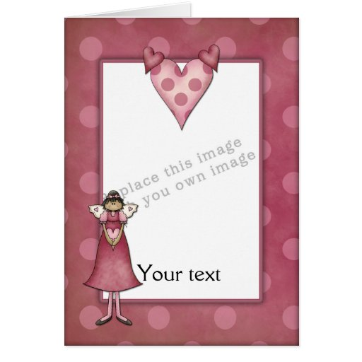 Template - Cute Angel Design Greeting Cards