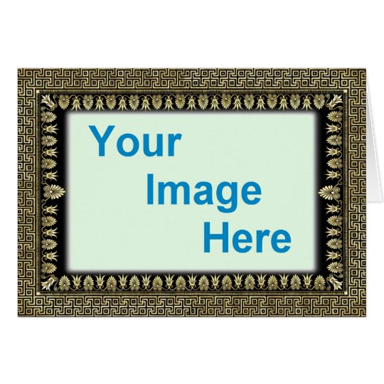 Template - Decorative Colourful Frame Border Card