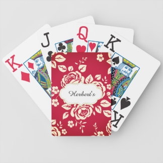 Template-DESIGN(c)Family-Name_Vintage_Red- Bicycle Playing Cards