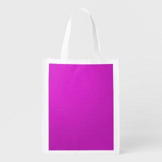 Template DIY add TEXT LOGO PHOTO IMAGE Reusable Grocery Bag