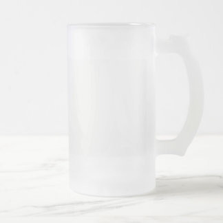 Template diy Add text photo change color Frosted Glass Beer Mug