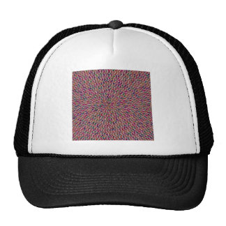 TEMPLATE DIY Artistic Pattern Add Greeting Txt Img Trucker Hat