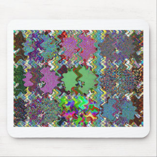 Template DIY Waves Patterns Textures Colorful Gift Mouse Pad