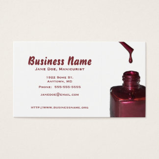 Template Dripped Red Nail Polish Business Card