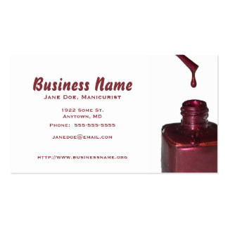 Template Dripped Red Nail Polish Pack Of Standard Business Cards