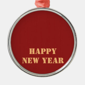 Template editable text 2017 Happy NEW YEAR Christmas Ornament