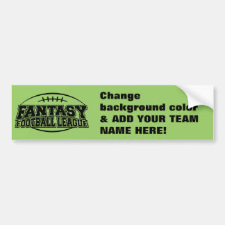 TEMPLATE Fantasy Football League Bumper Sticker