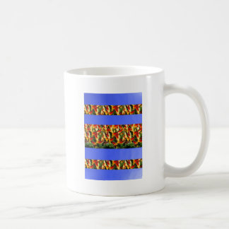 Template Flowers painted stripes add TXT IMAGE FUN Mugs