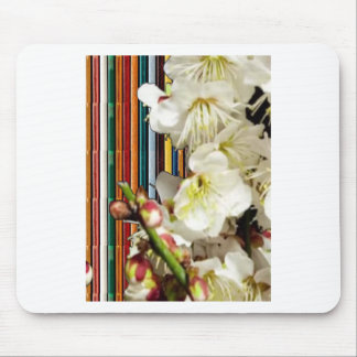 Template Flowers White add Text Image Customize 99 Mouse Pad