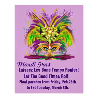 Template Flyer Mardi Gras