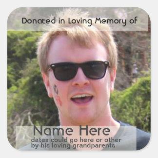 Template for  Donation Bookplate Square Sticker