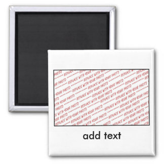Template for Group or Class Photo Square Magnet