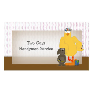 Template for Handyman Repairman Service, Humorous Pack Of Standard Business Cards