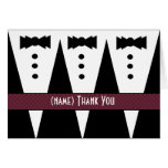 Template for PAGE BOY Thank You - 3 Tuxedos