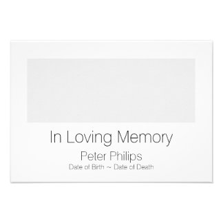 Template Funeral Announcement - Add favorite image