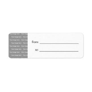 template gift tag Label Return Address Label