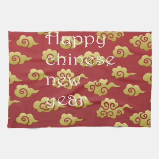 Template,happy chinese,new year,red,gold,pattern, towel