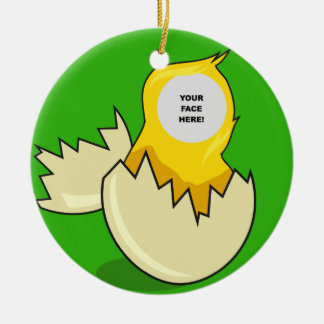Template, Hatching Chick Christmas Ornament