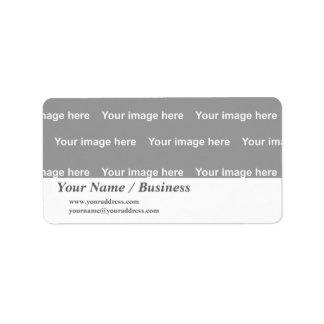 template label address label
