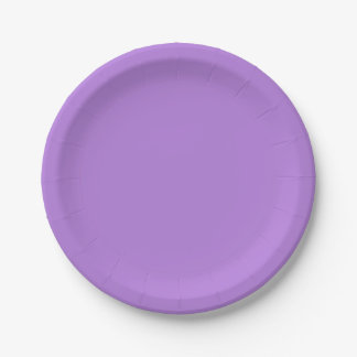 Template Lavender Paper Plate
