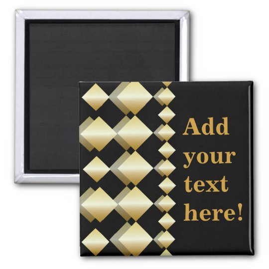Template Magnet - Customise Gold Black